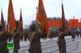 Военный парад на 70-летие снятия блокады Ленинграда. Кадр RT