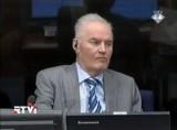 Бывший сербский генерал Ратко Младич на суде в Гааге. Кадр RTVi