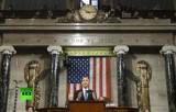 Ежегодное обращение Обамы к Конгрессу 2014. Кадр RT