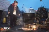 Лагерь оппозиционеров на Майдане в Киеве. Кадр RTVi