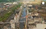 Реконструкция Панамского канала. Кадр Euronews