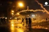 Антиправительственная акция протеста в Париже. Кадр Euronews