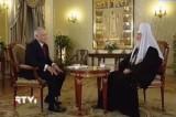 Рождественское интервью с Патриархом Кириллом. Кадр Россия 24 / RTVi