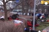 Пьяный водитель в Польше устроил массовое убийство на дороге. Кадр Euronews