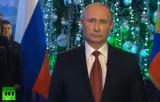 Новогоднее обращение президента РФ Владимира Путина 2014. Кадр RT