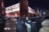 """Задержание участников акции в поддержку фигурантов """"болотного дела"""" на Красной Площади. Кадр RTVi"""