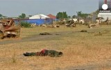 Убитые на поле битвы в Южном Судане. Кадр Euronews