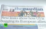 Выпуск газеты The Guardian о разоблачениях Сноудена. Кадр RT