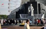 Памятник К.Э. Циолковскому в Москве. Кадр Роскосмоса