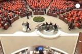 Турецкий парламент. Кадр Euronews