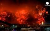 Салют на открытии XXII зимней олимпиады в Сочи. Кадр Euronews