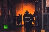 Аргентинские пожарные тушат здание архива банка. Кадр RT