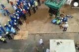 Несчастный случай на бразильском стадионе. Кадр Euronews