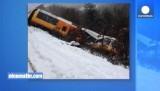 Во французских Альпах потерпел крушение небольшой поезд. Кадр Euronews