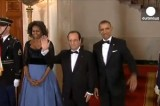 Встреча Франсуа Олланда и Барака Обамы. Кадр Euronews