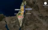 Иерихон на карте Израиля и Палестины. Кадр Euronews / DigitalGlobe