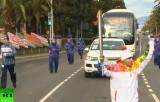 Олимпийский факел в Сочи. Кадр RT