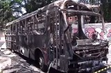 Сгоревший автобус в Сан-Паулу, Бразилия. Кадр NTDTV