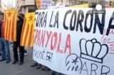 Противники монархии в Испании. Кадр Euronews