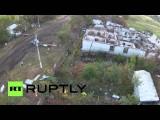 Село Степановка Донецкой области стерто с лица земли (съемка с воздуха)