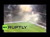 Футбольный матч между сборными Италии и Хорватии был прерван из-за беспорядков на трибунах