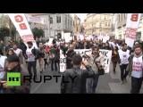 Джо Байдена встретили в Стамбуле антиамериканскими лозунгами
