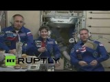 Экипаж корабля «Союз ТМА-15М» встретили на МКС