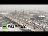 На Москву обрушился сильнейший снегопад