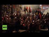 В Киеве прошло факельное шествие, посвящённое Бандере