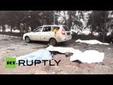 В Донецке под артобстрел попали троллейбус и Дом культуры, погибли 12 человек