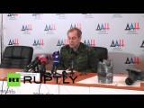 Ополченцы ДНР продемонстрировали найденные ими боеприпасы НАТО