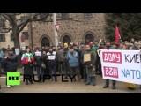 В европейских столицах прошли митинги в поддержку жителей Донбасса