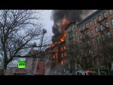 Взрыв газа в центре Нью-Йорка уничтожил несколько жилых домов