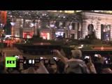 Новейшая военная техника проехала по ночным улицам Москвы