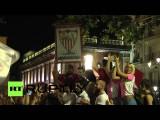 Фанаты «Севильи» празднуют победу команды в финале Лиги Европы