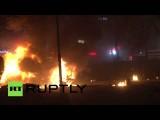 Последствия мощного взрыва в центре Анкары, как минимум 27 человек погибли