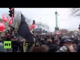 Беспорядки во время протеста против реформ трудового законодательства во Франции