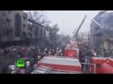 Последствия мощных взрывов в Багдаде, 80 человек погибли